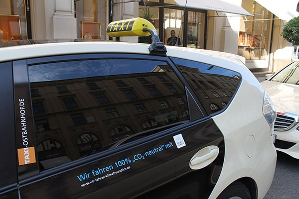 Carbon neutral fleet of taxicab company in Munich (Umwelt-Taxi)